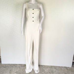 STAUD WOMAN JUMPSUITS WHITE COLOR SIZE 8 CHIC GI86